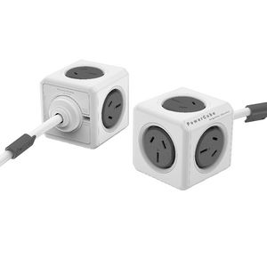 Allocacoc PowerCube 5 Power Outlets 3m Grey