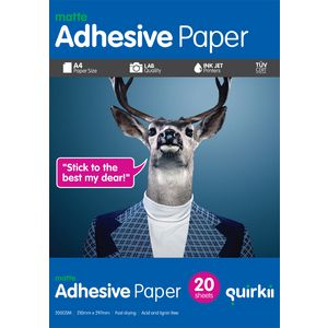 Quirkii A4 Adhesive Paper 20 Pack