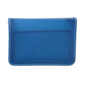 AusInc A4 Zipped Document Folder Blue