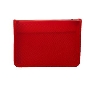 AusInc A4 Zipped Document Folder Red