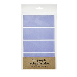 Rectangle Label 100 x 38mm 20 Pack Purple