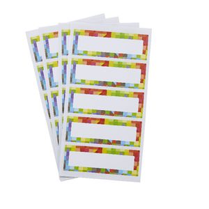 Geometric Rectangle Label 70 x 24mm 25 Pack