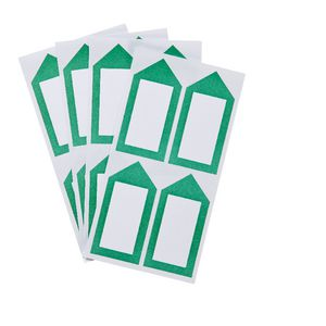 Neon Green Arrow Label 33 x 67mm 20 Pack