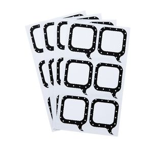 Contemporary Dots Think Label 35 x 43mm 30 Pack