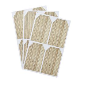 Natural Timber Tag Label 50 x 85mm 20 Pack