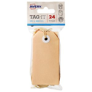 Avery Tag-It with String 96 x 48mm Peach 24 Pack