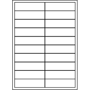 Unistat Printable Labels 100 Sheets 20 Per Page