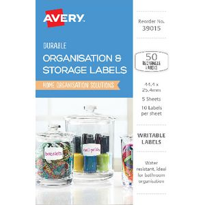 Avery Eclectic Collection Rectangle Label 50 Pack