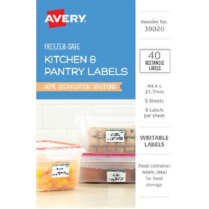 Avery Rectangle Removable Freezer-safe Labels 40 Pack