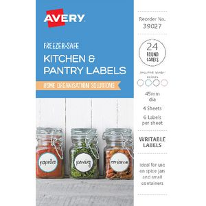 Avery Round Labels Assorted 24 Pack