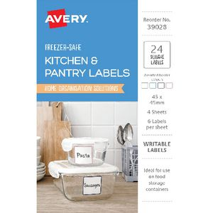 Avery Square Labels Assorted 24 Pack