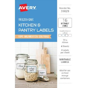 Avery Rectangle Kitchen Labels Assorted 16 Pack
