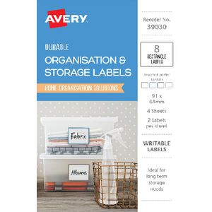 Avery Rectangle Labels Assorted 8 Pack