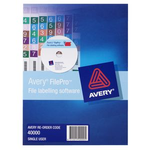 Avery FilePro File Labelling Software 1 PC Box
