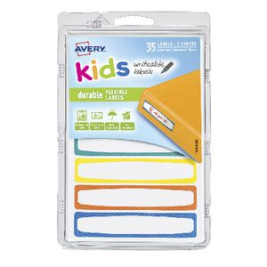 Avery Kids Labels Assorted Colours 35 Pack