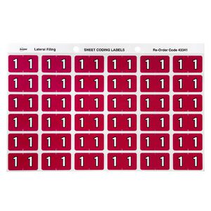 Avery Lateral File Side Tab Label '1' 180 Pack