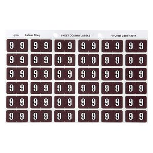 Avery Lateral File Side Tab Label '9' 180 Pack