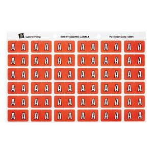 Avery Lateral File Side Tab Label 'A' 180 Pack