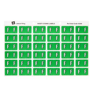 Avery Lateral File Side Tab Label 'F' 180 Pack