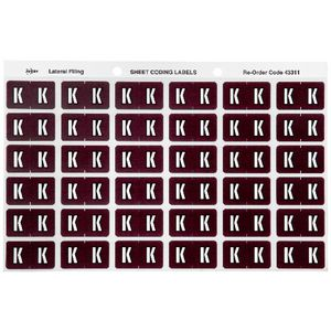 Avery Lateral File Side Tab Label 'K' 180 Pack