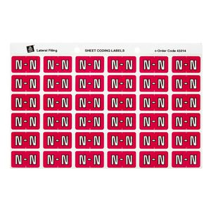 Avery Lateral File Side Tab Label 'N' 180 Pack