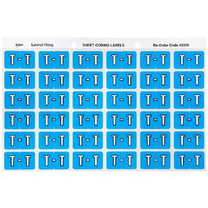 Avery Lateral File Side Tab Label 'T' 180 Pack