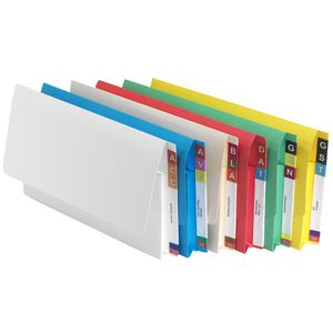 Avery Foolscap Lateral Shelf Wallet White 20 Pack