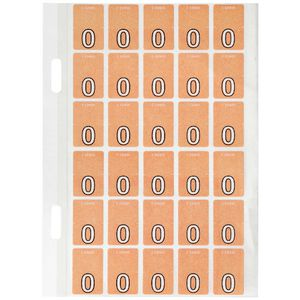 Avery Lateral File Top Tab Label '0' 150 Pack