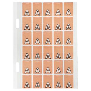 Avery Lateral File Top Tab Label 'A' 150 Pack