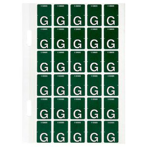 Avery Lateral File Top Tab Label 'G' 150 Pack