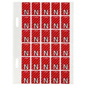Avery Lateral File Top Tab Label 'N' 150 Pack