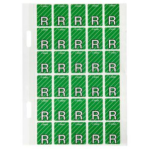 Avery Lateral File Top Tab Label 'R' 150 Pack
