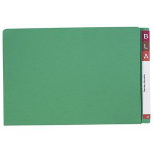 Avery Foolscap Lateral File Green 100 Pack