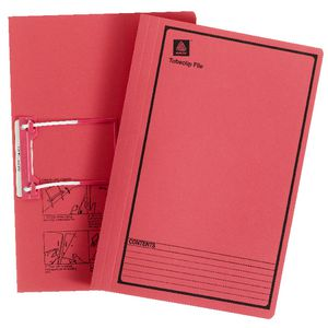 Avery Foolscap File with Tubeclip Fastener Red 20 Pack