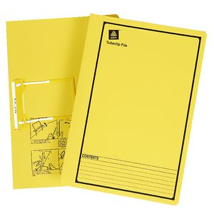 Avery Foolscap File with Tubeclip Fastener Yellow 20 Pack