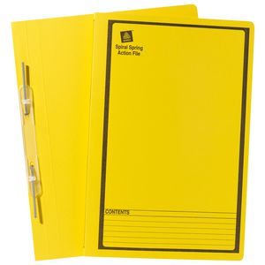 Avery Foolscap Spiral Spring File Yellow