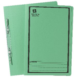 Avery Foolscap Spiral Spring File Green 25 Pack