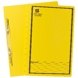 Avery Foolscap Spiral Spring File Yellow 25 Pack