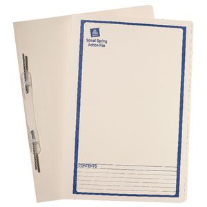 Avery Foolscap Spiral Spring File Blue Print 25 Pack