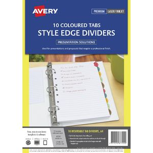 Avery Style Edge A4 Dividers 10 Tab