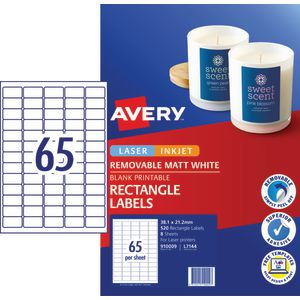 Avery Matte White Rectangular Pricing Labels 520 Pack | Tuggl