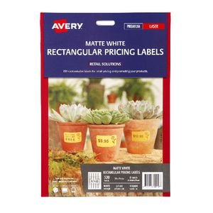 Avery Matte White Rectangular Pricing Labels 520 Pack
