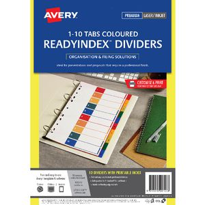 Avery Polypropylene Table of Contents Dividers with 10 Tabs
