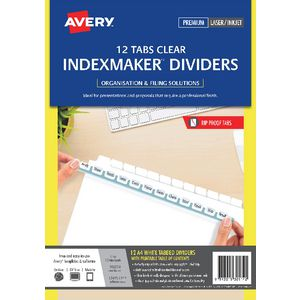 Avery A4 IndexMaker Dividers with 12 Tabs White