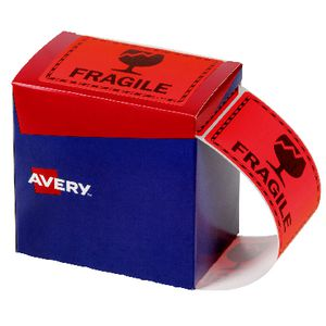 Avery Fragile Labels 75 x 99.6mm Orange