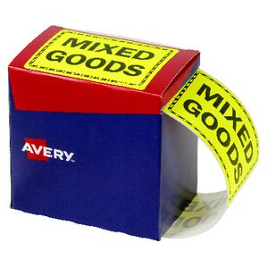 Avery Mixed Goods Labels 75 x 99.6mm Yellow 750 Pack