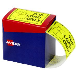 Avery 75 x 99.6mm Top Load Only Labels Fluro Yellow