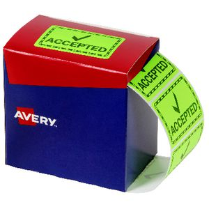 Avery Accepted Labels 75 X 48.8 mm Green