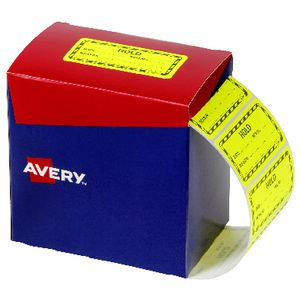 Avery Hold Labels 75 X 50.8 mm Yellow
