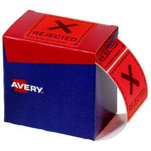 Avery Rejected Labels 75 X 76.2 mm Red